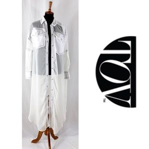 TOV Holy See Through Jacket Cardigan